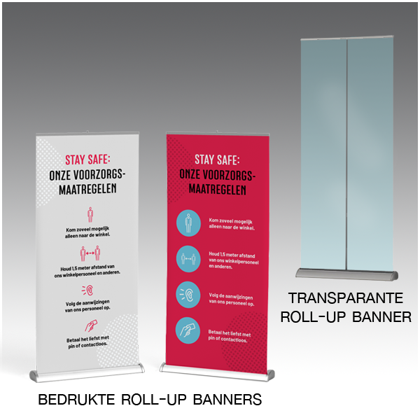 600x600px Roll-up banners